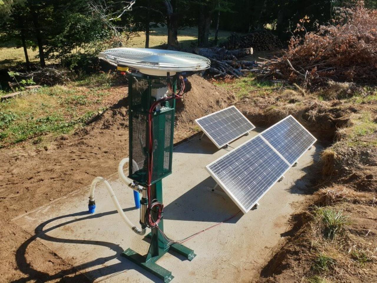 Le moteur photovoltaïque autonome de Saurea sert à fonctionner des pompes à eau, des installations de ventilation et alimenter des petits équipements mécaniques. © Saurea