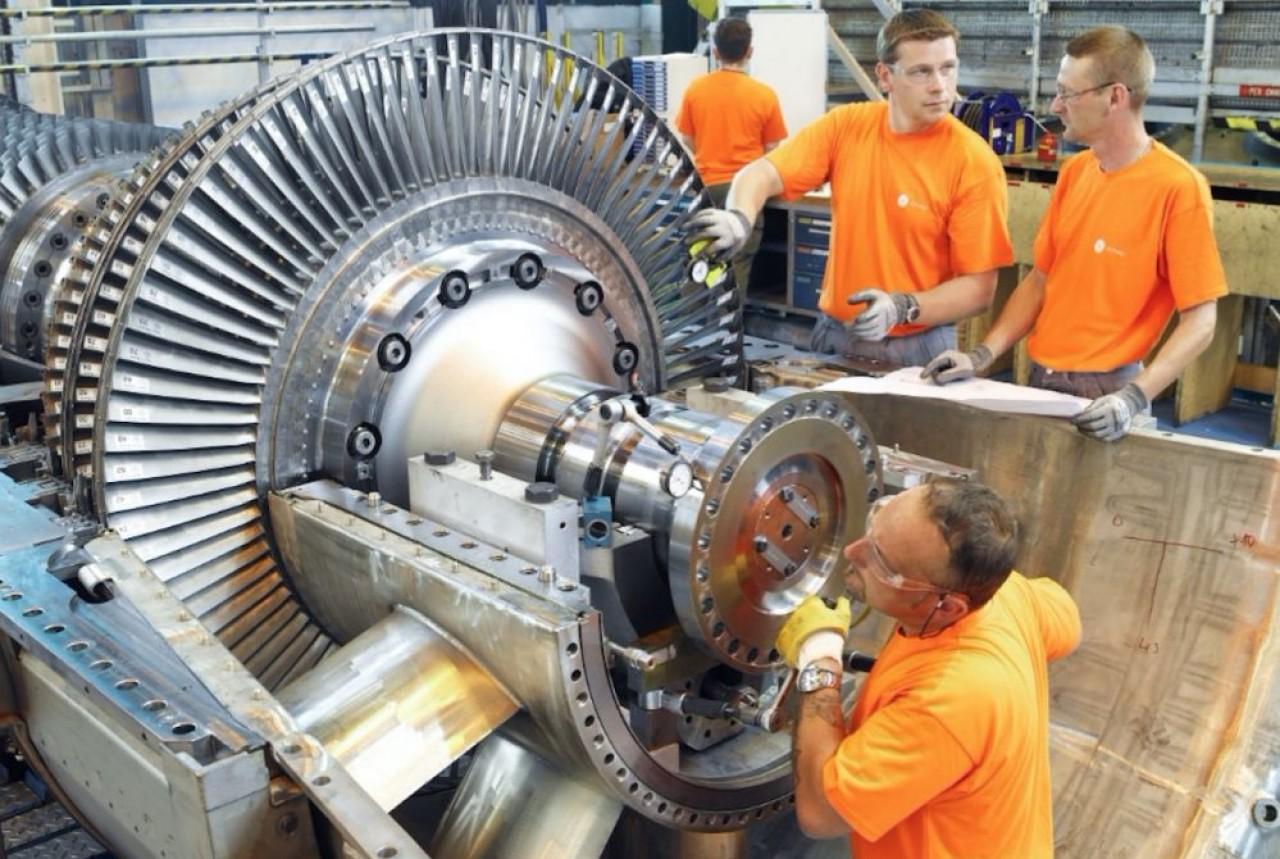General Electric à Belfort ne cesse de réduire la voilure. En photo, l'activité Gas (centrales au gaz) délestée de 485 postes. © GE