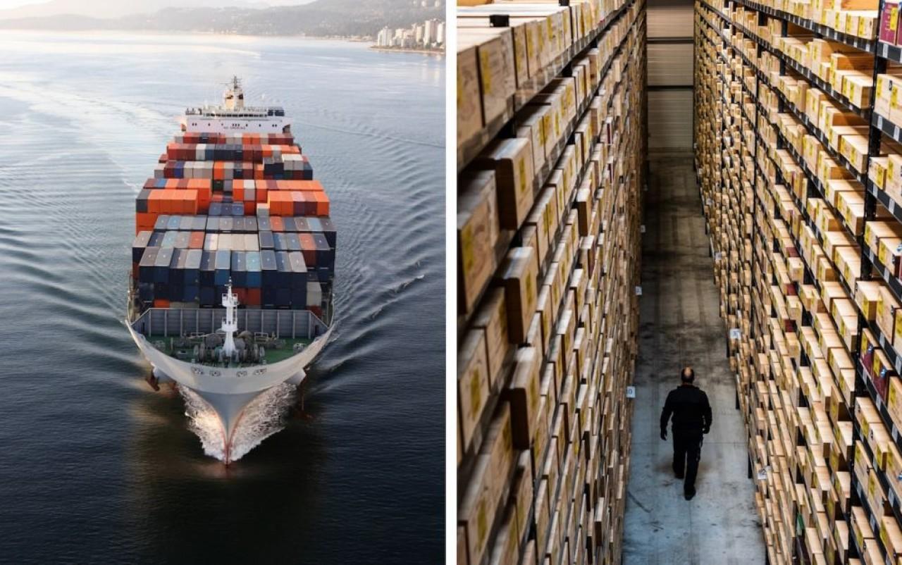 Hillebrand transporte 600.000 conteneurs, équivalent vingt pieds (EVP) par an, de bières, vins et spiritueux. © Hillebrand