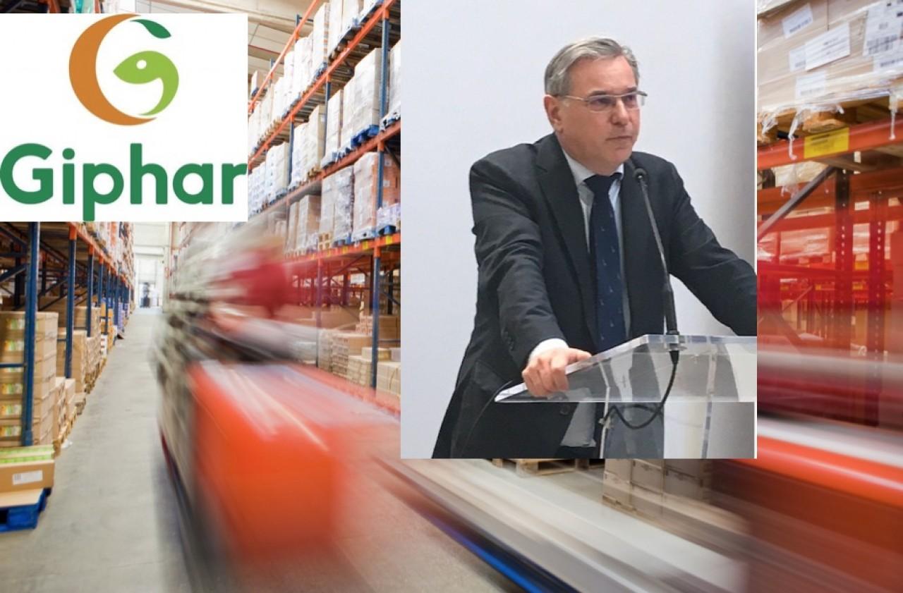 Philippe Becht, président du directoire du groupement de pharmaciens Giphar a annoncé hier 9 février à Dijon, l'implantation d'une plateforme logistique pour l'Est de la France. Photo montage © Traces Ecrites