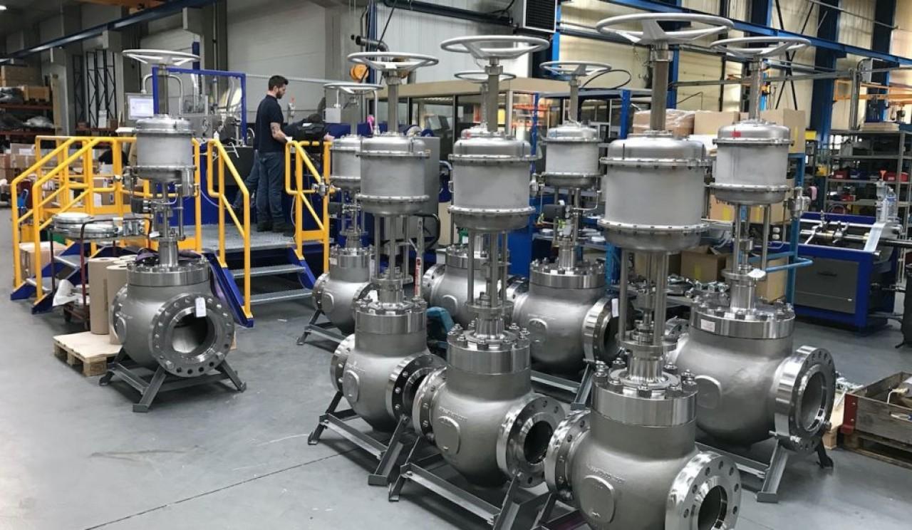 Sart von Rohr fabrique des vannes de régulation pour le passage des fluides, eau ou gaz, pour les installations industrielles. En photo, l'usine de Bitschwiller-lès-Thann dans le Haut-Rhin.