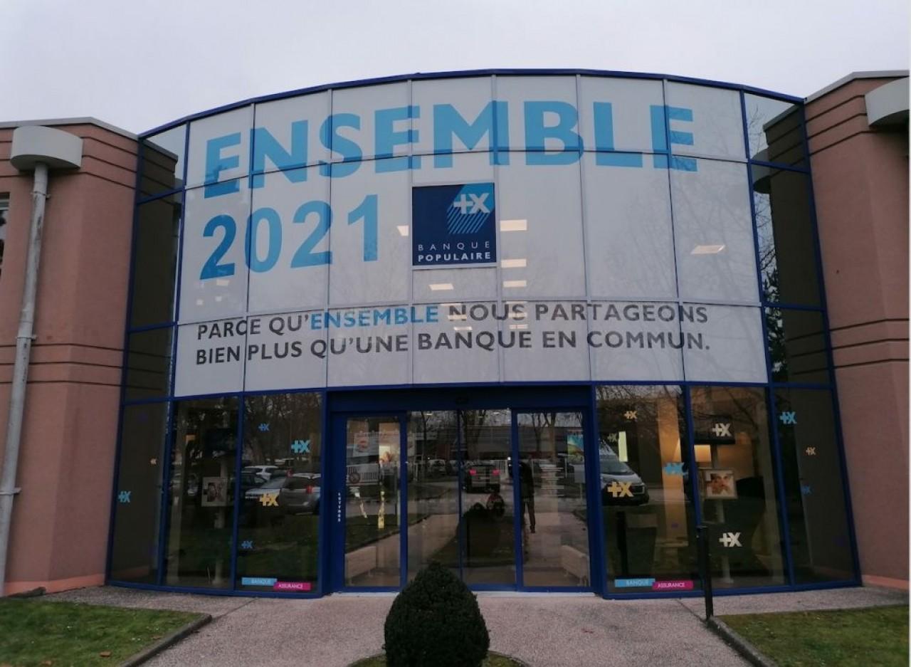 Le siège de la Banque Populaire de Bourgogne-Franche-Comté situé à Quétigny, dans l'agglomération de Dijon. © BP BF-C