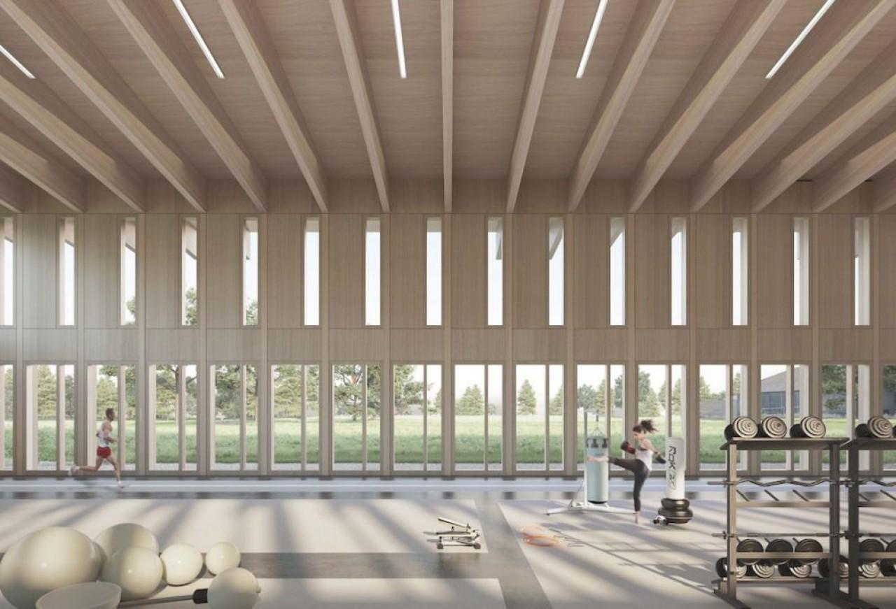 Le Centre de Préparation et de Performance Athlétique au Creps de Dijon sera construit tout en bois. © Cathrin Trebeljahr