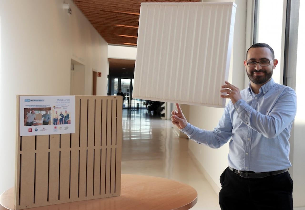 Aliyasin El Ayouch, CEO et cofondateur de Metabsorber a prouvé l'efficacité des métamatériaux acoustiques, dans sa thèse conduite au sein de l'institut Femto-ST à Besançon.