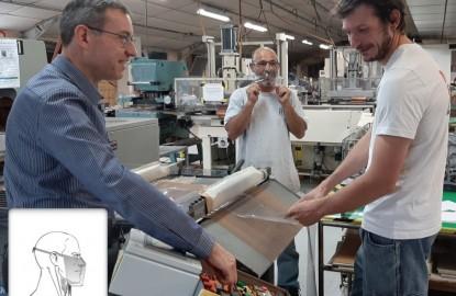 Dans l'Yonne, Simon crée une nouvelle norme européenne pour commercialiser ses masques en vinyle