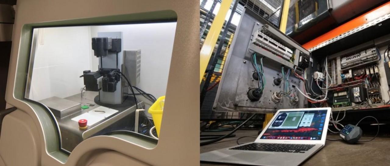 A gauche, le dispositif automatique de préparation des produits de contraste pour les examens de scintigraphie de Sysark. A droite, Ewattch pourrait bénéficier de l'élan des dispositifs d'Etat en matière d'efficacité énergétique dans l'industrie.