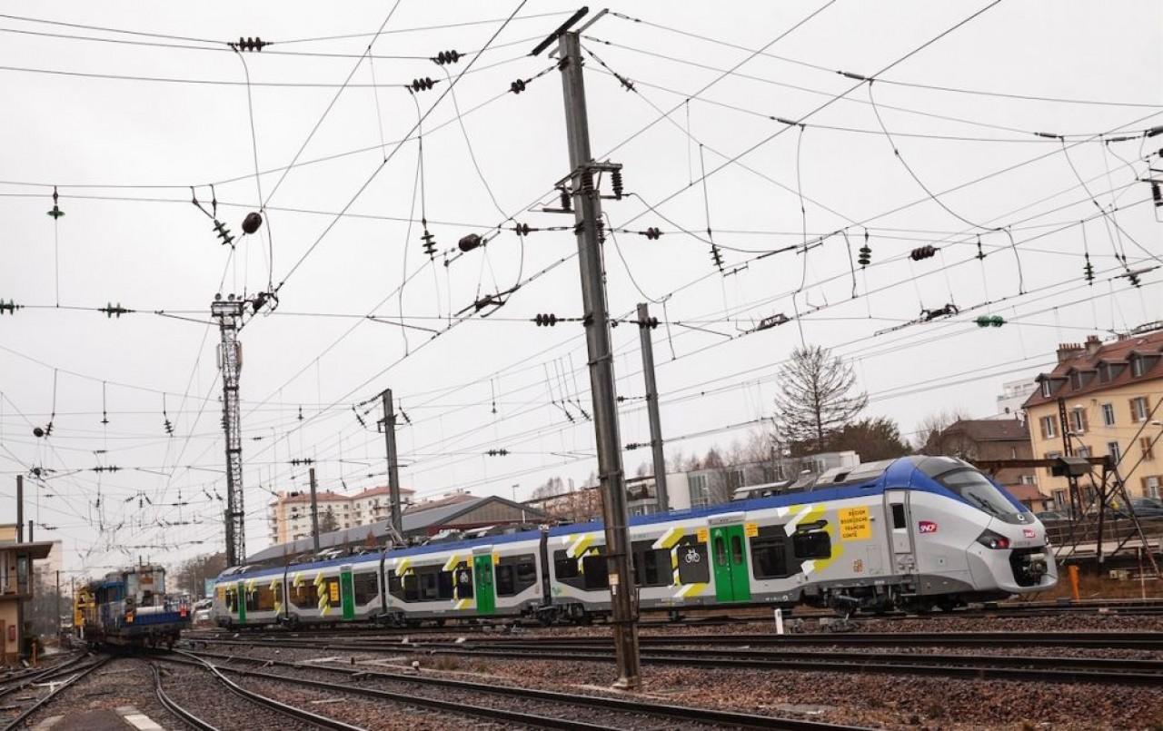 En Bourgogne-Franche-Comté, la circulation des TER a diminué de 60% en 2020. © David Cestron