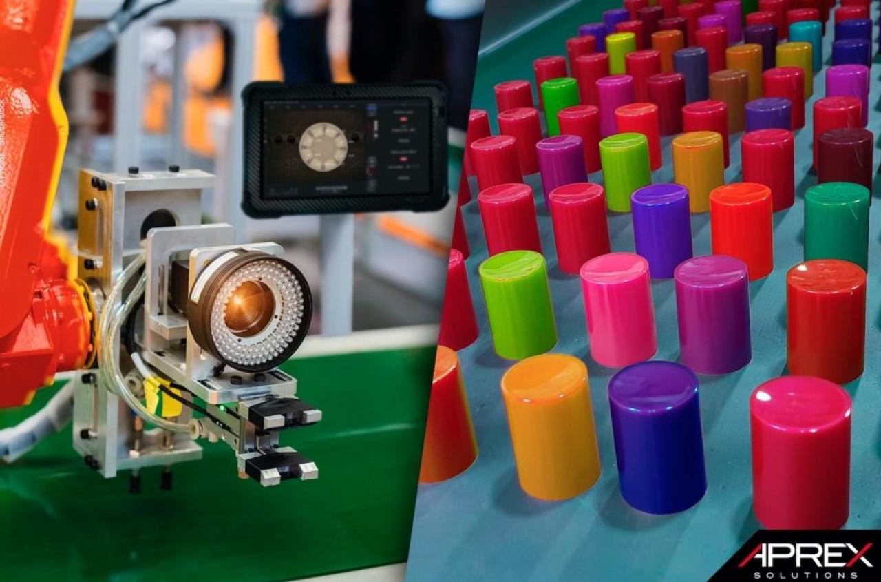 Contrôle de bouchon par caméra avec intelligence artificielle. © Aprex Solutions