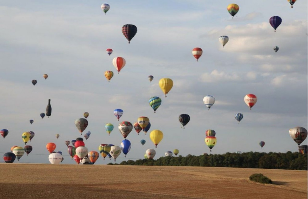 L'aérodrome de Chambley accueille tous les deux ans, le Mondial Air Ballon, le plus grand rassemblement de montgolfières au monde. Cette année du 23 juillet au 1er août. ©  Pascal Bodez Region Grand Est
