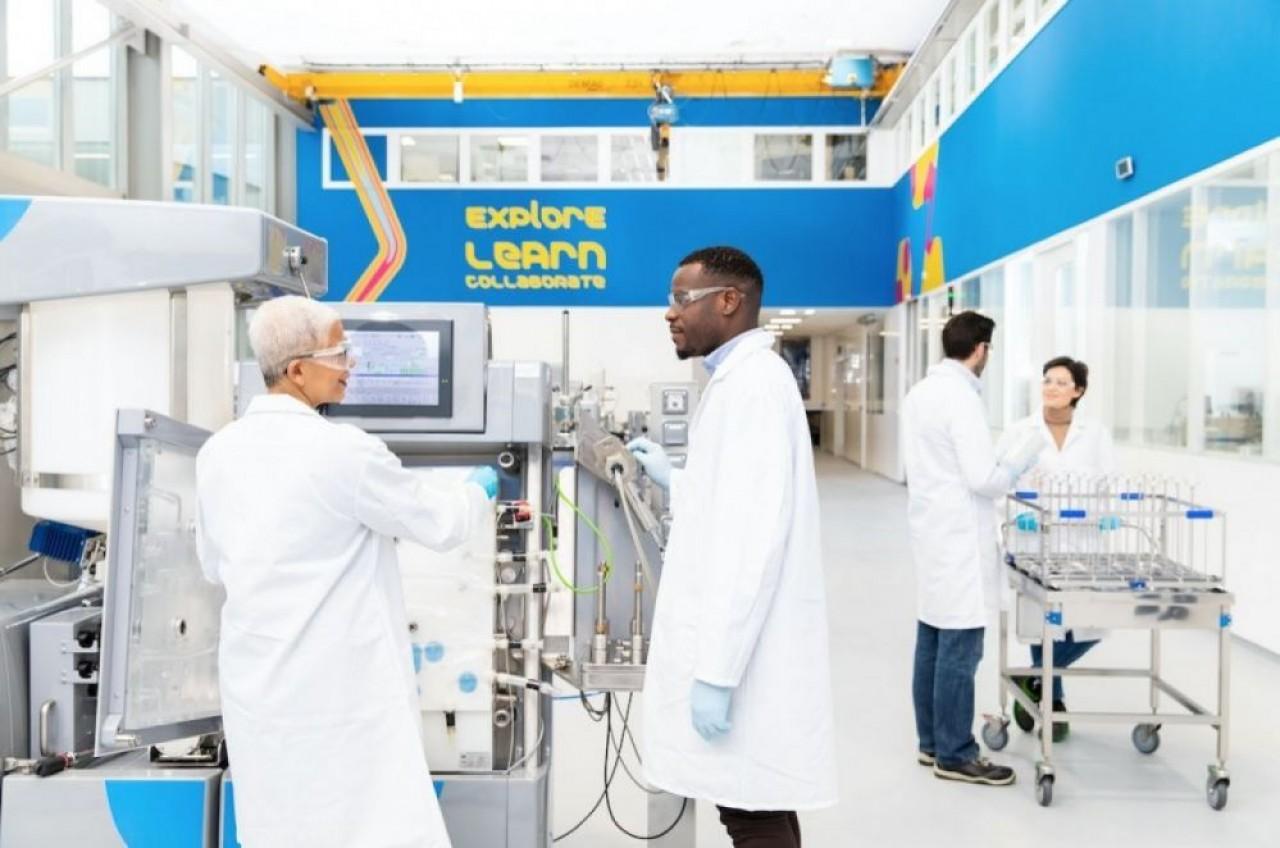 Le site Merck de Molsheim (Bas-Rhin) prendra le relais de la Chine et des Etats-Unis pour la production de poches stériles pour un vaccin anti-Covid à destination de l'Europe. © Merck.