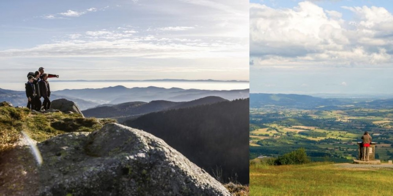 Pour prendre de la hauteur, (à gauche) le sommet du Hohneck dans les Vosges, entre Alsace et Lorraine. © G.Pecqueur. A droite, le Mont Beuvray dans le Morvan, en Bourgogne. © Alain Doire