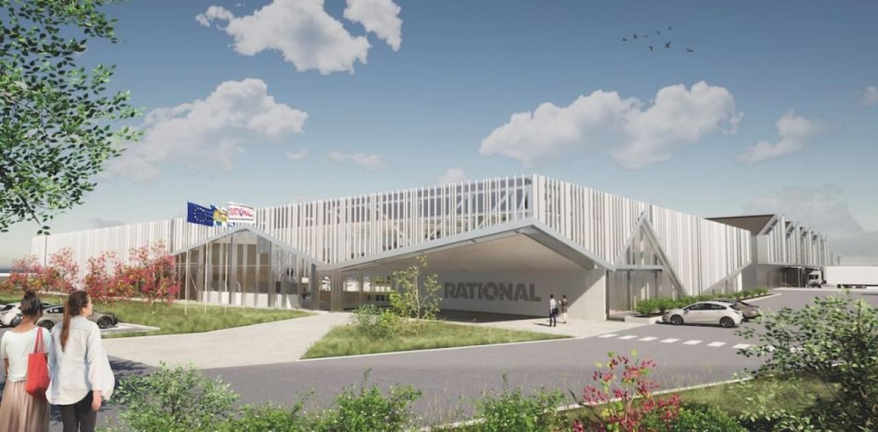 Esquisse de la nouvelle usine de Rational qui augmentera fortement les capacités des actuels locaux situés sur la même zone d'activités, dans la banlieue de Mulhouse.