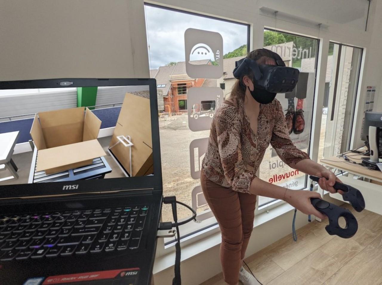 Recrutement  d'Intérimaires par Temporis, via la simulation virtuelle, chez Guillin Emballages. © Sekhem Studio