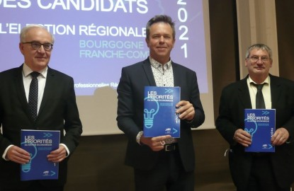 Cinq candidats aux élections régionales en Bourgogne-Franche-Comté face aux patrons du Medef