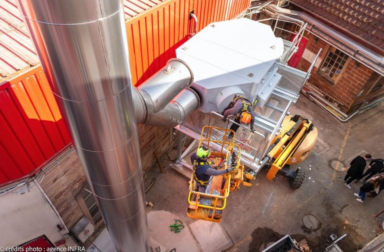 Si-Nergie conçoit et réalise des installations pour améliorer l'efficacité énergétique des unités de production. Ici, la Brasserie La Licorne à Saverne. ©Agence Infra
