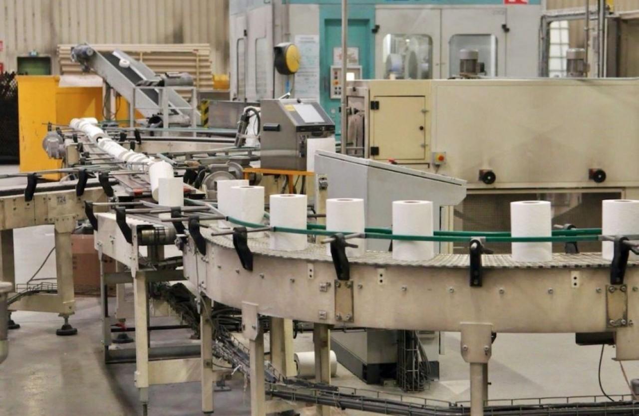 L'investissement de 80 milions va porter la capacité de fabrication de papiers d'hygiène du site vosgiende Lucart  à 100.000 tonnes par an. © Lucart group