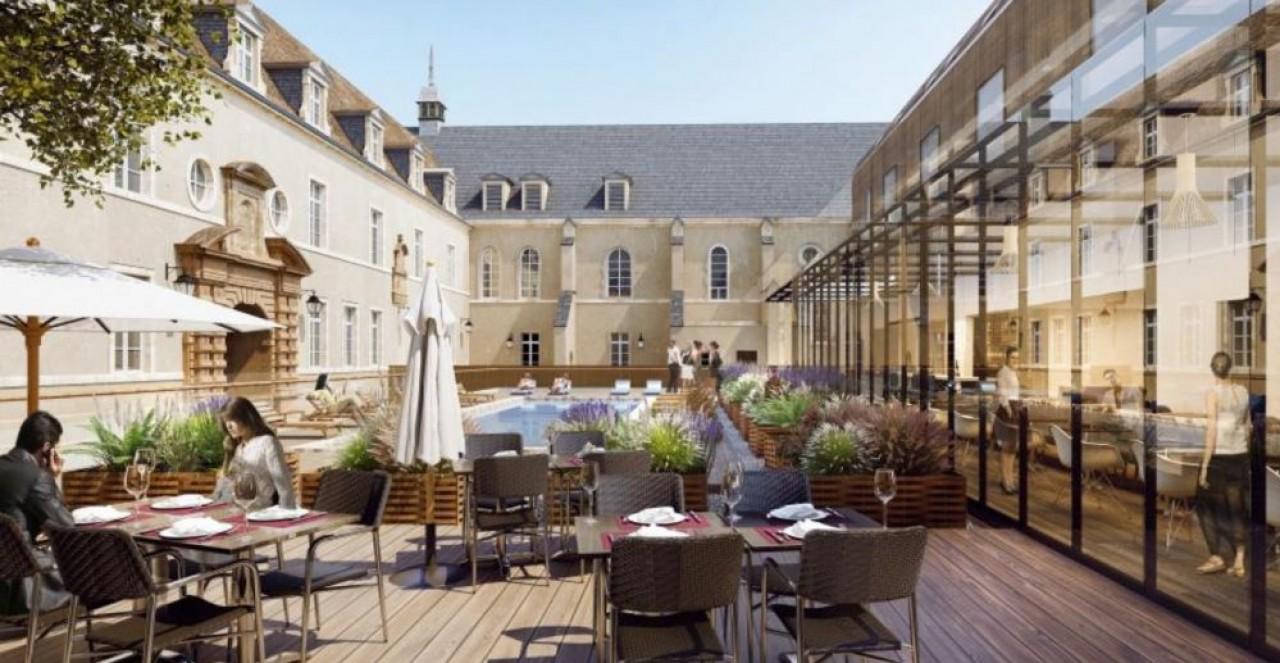 Naos Hôtel Groupe et plusieurs acteurs bancaires de la place régionale constituent la société Naos Murs Dijon pour implanter un hôtel 4 étoiles à la Cité Internationale de la Gastronomie et du Vin à Dijon. © Antoine Béchu, architecte