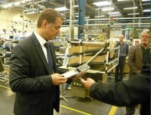 Guilhem Lassale, directeur de Schneider Electric à Longvic.