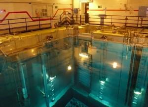 La piscine de la centrale nucléaire de Belleville.