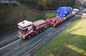 Transport d'une turbine 9F 5-series en partance pour la Grèce.