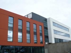 Les bureaux Novatech, construits par Lazard et Eiffage Construction. Architecte : JF Denner (Strasbourg).