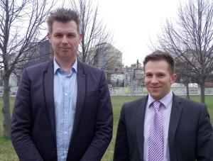 Philippe Robin, président PPC (à gauche) et Jacques Sturm, responsable commercial.