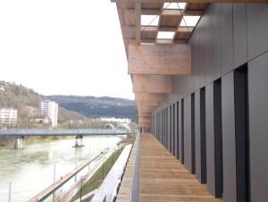 Les balcons du conservatoire, côté Doubs.