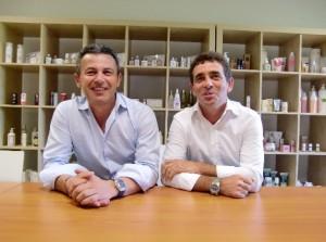 Laurent Dodet (à gauche) et son associé Jean-Marie Total.