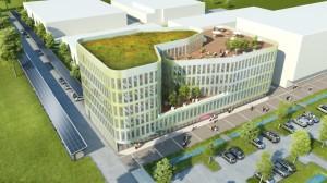 Novacenter, le nouveau programme qu'Icade Promotion présente au MIPIM et va construire début 2014 sur le site de la maison régionale de l'innovation à Dijon. Crédit : Brenac et Gonzalez, architectes (Paris).