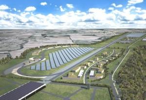 L'ancienne piste d'envol de 3 km permettra de simuler le trafic sur une autoroute et le taxiway de 1,2 km (à gauche), sur une route rurale.