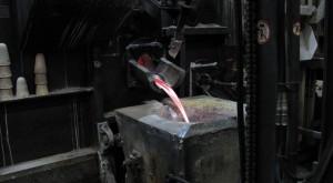 Coulée d'aluminium.