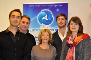 De gauche à droite : Stéphane, Pascal, Arlette, Emmanuel et Diane Dumont.