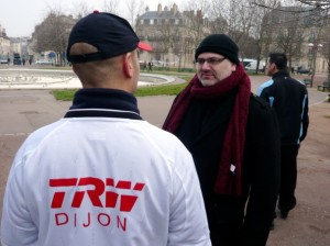 Christophe Depierre, porte-parole de l'intersyndicale TRW mobilise ses troupes contre la fermeture d'un site rentable. (Photo : Traces Ecrites)