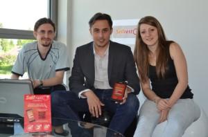 Pierre Alexis Darthout entouré de Sara Besanceney et de Fabrice Cote.