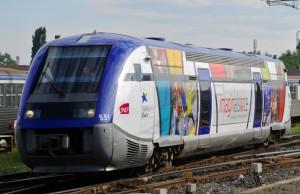 TER aux couleurs de la marque Alsace. © Stadler-Région Alsace.