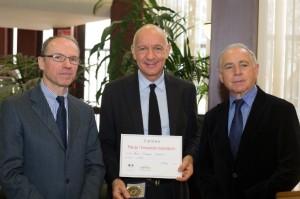Dominque Bergin, président de Look Cycle au centre, exploite pas moins de 200 brevets.
