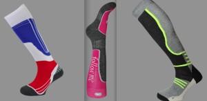 Quelques modèles de chaussettes fabriqués chez Monnet.