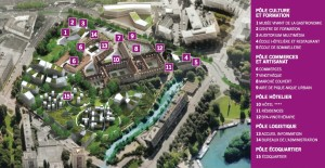 Le plan de la cité de la gastronomie (Cliquez sur l'image pour lire les légendes). QuarkXPress.