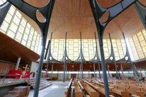 La nef haute de l'église des Grésilles.  Photo Jean-Christophe Tardivon.