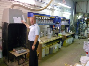 L'entreprise possède des équipements de pointe pour fabriquer ses peintures industrielles.