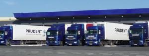 Transports Prudent exploite un parc de 110 camions frigorifiques.