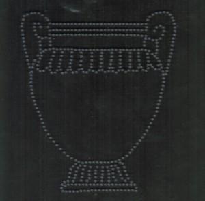 Le cartel du vase de Vix au musée du Pays du Châtillonnais (Côte-d'or).