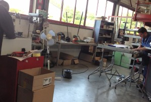 L'atelier de maintenance d'Etupes (Doubs).