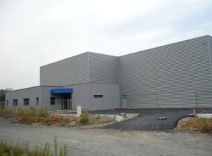 La future unité mâconnaise d'ALPM construite par  l'entreprise générale Champale de Crêches-sur-Saône.