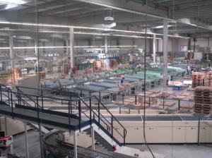 Vue du nouvel entrepôt de Lyreco à Digoin (Saône-et-Loire).