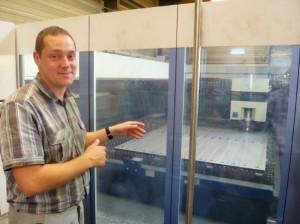 Sylvain Gleitz, gérant de la société métallurgique ALPM à Mâcon (Saône-et-Loire).