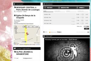 L'organisateur a créé un mini-site temporaire pour les inscriptions à la manifestation.