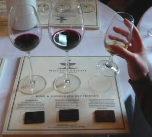Dégustation de vins et chocolats.