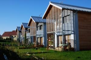 quartier de 27 logements à Auxon-Dessous. Michèle Bourgeois Architecte