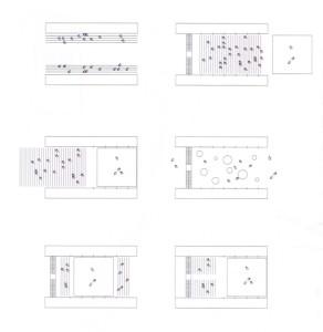 Une scène modulable qui permet différentes configurations : théatre, conférences, lectures...